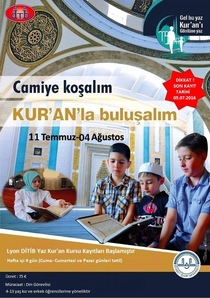 Yaz Kur'an Kursları.