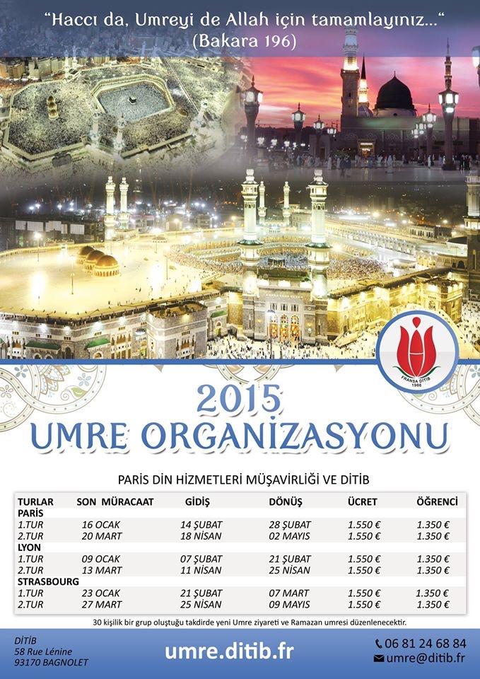 2015 Umre Proğramı açıklandı.
