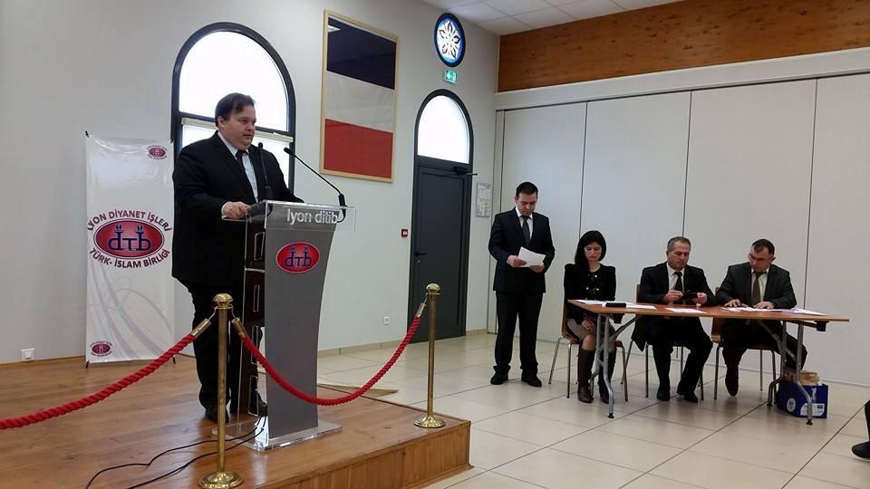 Proğramda Lyon Başkonsolosu Hilmi Ege Türemen bir konuşma yaptı.